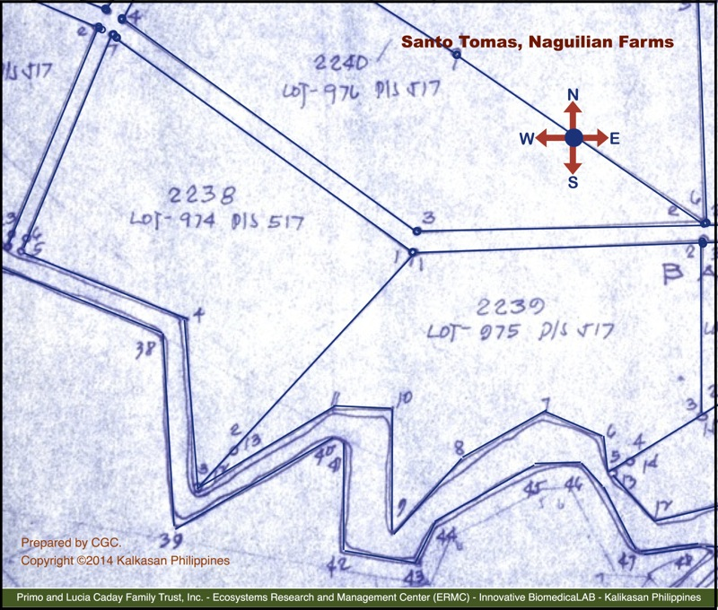 DENR Map of the Santo Tomas, Naguilian Farms