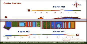 Integrated schematic map of Farm 01 to Farm 03 in Cadu, Ilagan